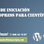 Curso de Iniciación a Wordpress para científicos