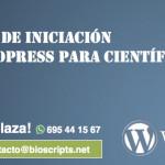 2ed. del curso de iniciación a Wordpress para Científicos