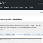 Plugin BioDic Automatic word link para Wordpress actualizado
