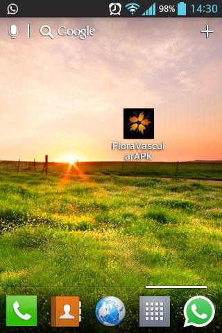 Icono de la aplicación móvil de la Flora Vascular en Android