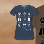 Camisetas de huellas de mamíferos
