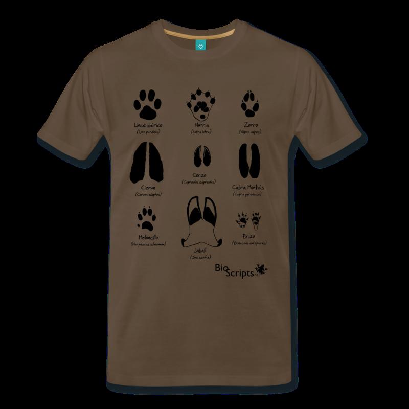 camisetas de huellas para hombre