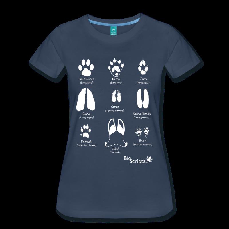 camisetas de huellas para mujer