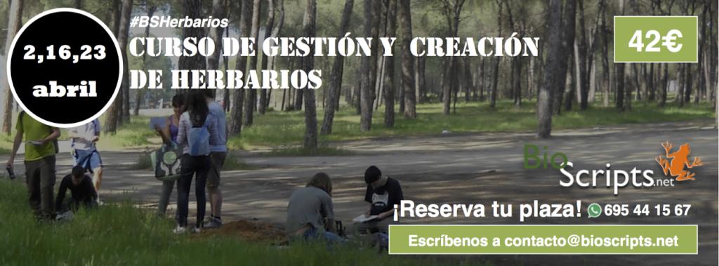 Curso de gestión y elaboración de herbarios