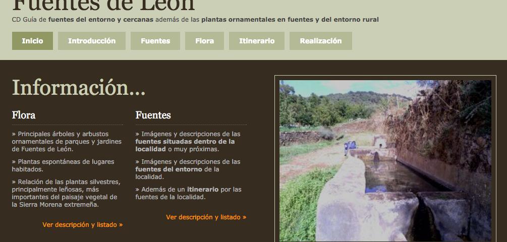 Página principal Fuentes de León