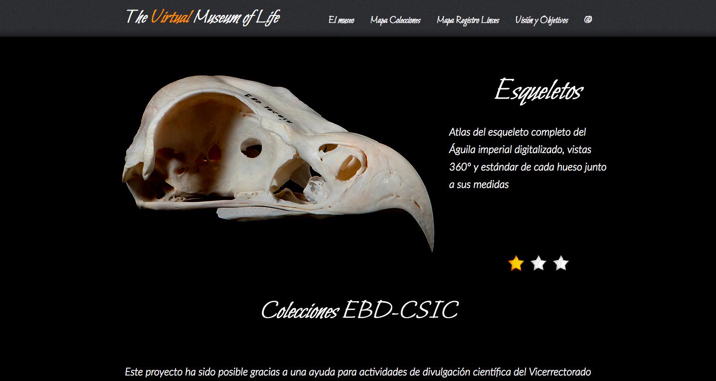 Página principal del proyecto con todas las especies digitalizadas