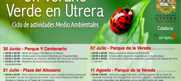 BioScripts participará en el ciclo de Actividades Medioambientales Un verano Verde en Utrera