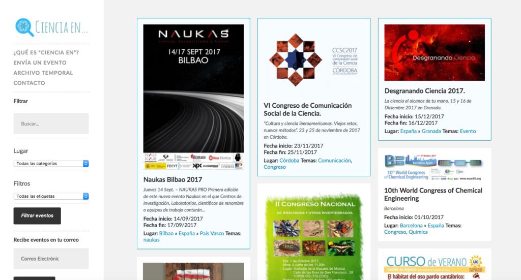 Ciencia en España - Directorio de eventos científicos gratuito